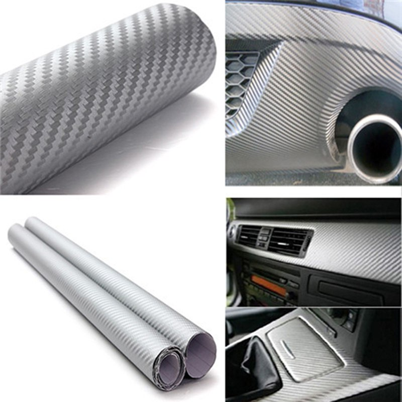 127x30cm 3d 3m diy auto carbon fiber vinyl film carbon car wrap sheet roll film paper sticker. Black Bedroom Furniture Sets. Home Design Ideas